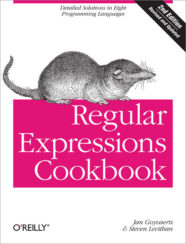 The regular expression cookbook.