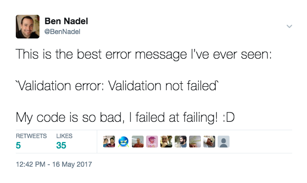 Sequelize validation error: validation not failed.