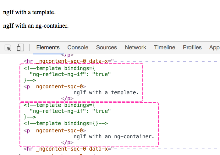 Template vs. ng-container in Angular 2.