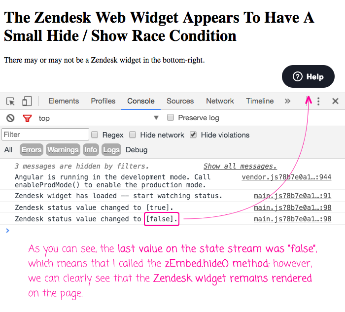 Using the Zendesk web widget programmatically.