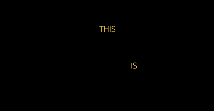 THIS IS US opening titles using CSS animations.