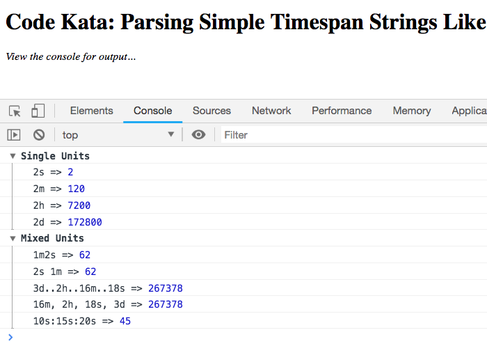 Parsing simple timespan strings in JavaScript, allowing for input flexibility.