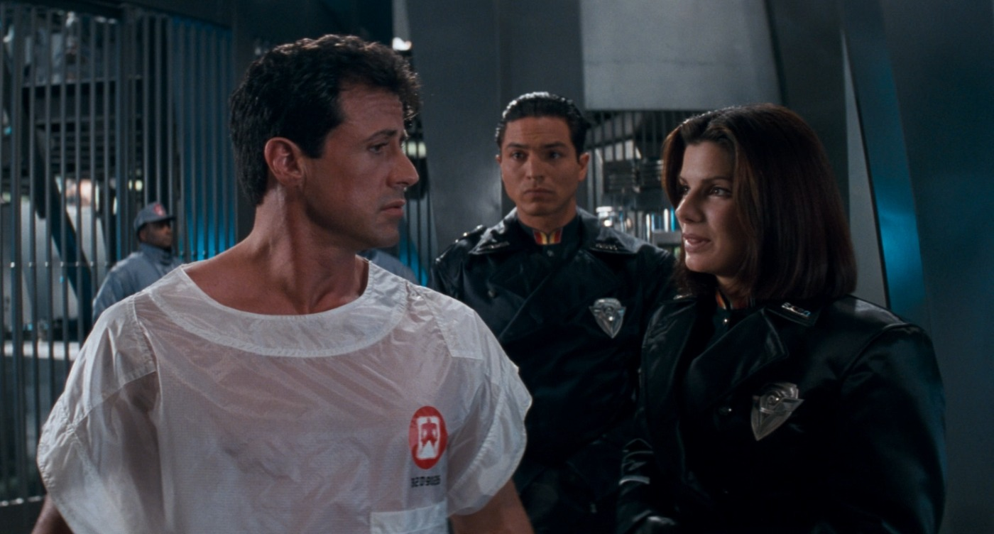 Sylvester Stallone in Demolition Man.