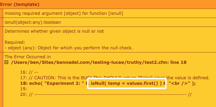 Varaible assignment inside of isNull() call throws error in Lucee 5.3.2.77.