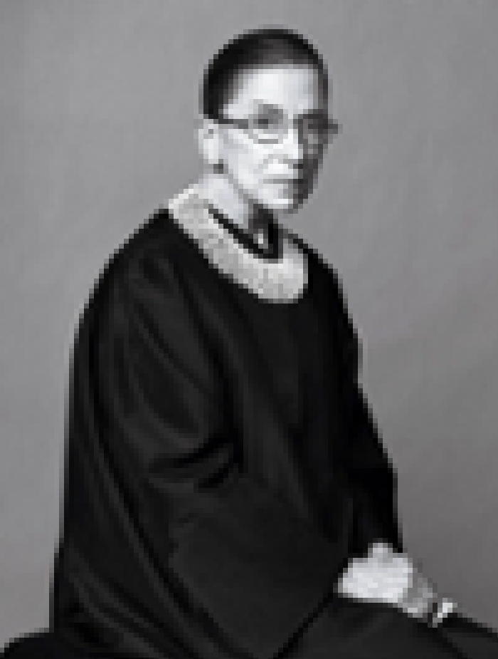 A pixelated image of Ruth Bader Ginsburg using CSS box-shadow and Lucee CFML.