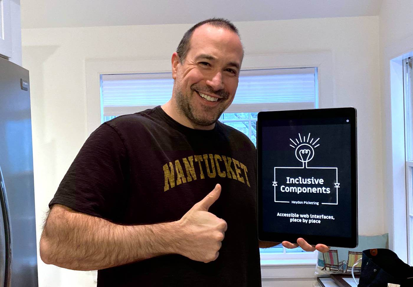 Ben Nadel giving his thumbs-up for Inclusive Components: Accessible Web Interfaces, Piece By Piece by Heydon Pickering.
