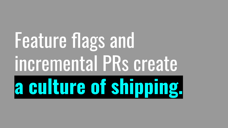 Slide 037 for presentation, Feature Flags Change Everything About Product Development