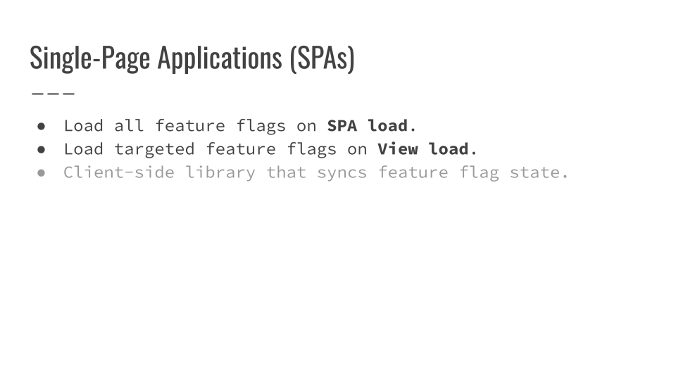 Slide 046 for presentation, Feature Flags Change Everything About Product Development