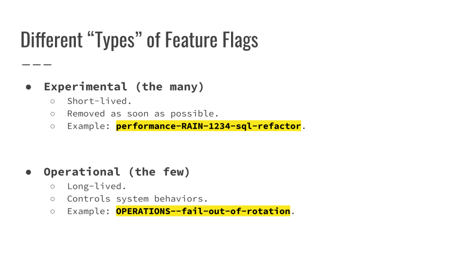 Slide 053 for presentation, Feature Flags Change Everything About Product Development