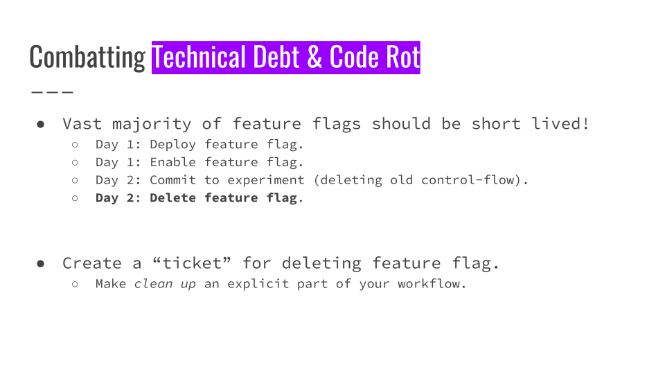 Slide 069 for presentation, Feature Flags Change Everything About Product Development