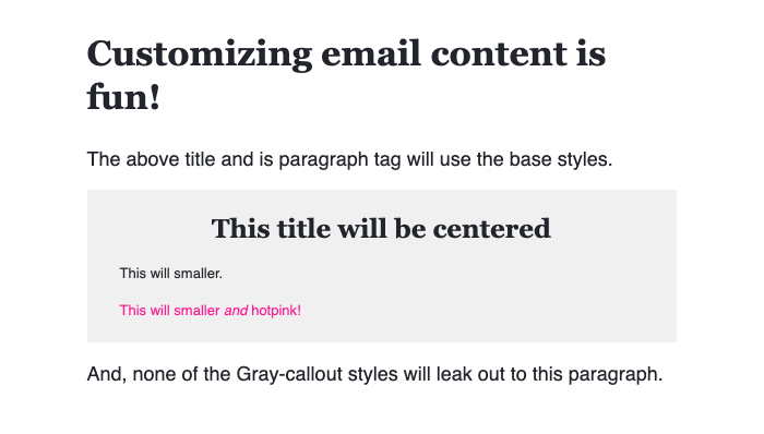 An HTML email formatting using a ColdFusion custom tag DSL.