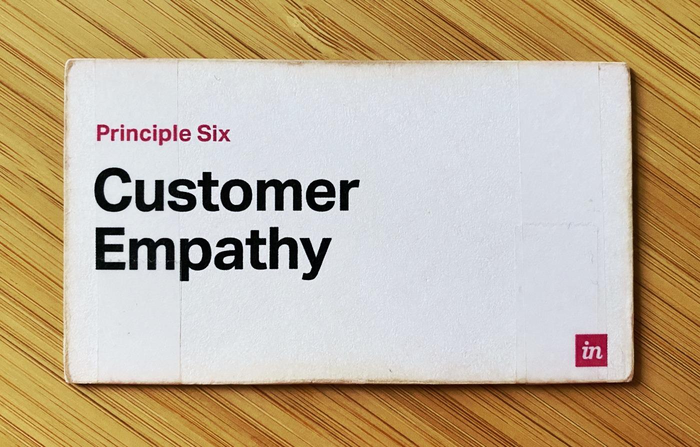 InVision Principle Six: Customer Empathy