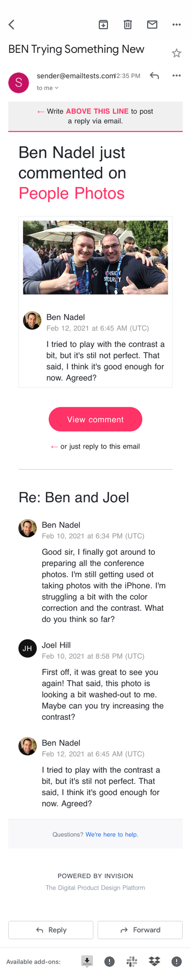 Email rendering in Gmail on iOS 13.